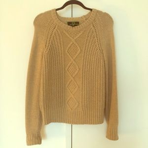 C Wonder Cable Knit Sweater - Size S